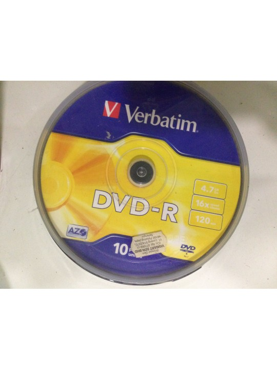 VERBATIM 4.7GB DVD-R 10 PCS