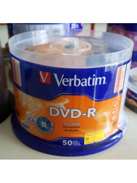 Verbatim 4.7GB DVD-R 50 Pcs