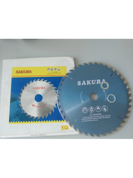 "SAKURA-CIRCULAR SAW BLADES(9""- 40T-25.4 FORWOOD)"