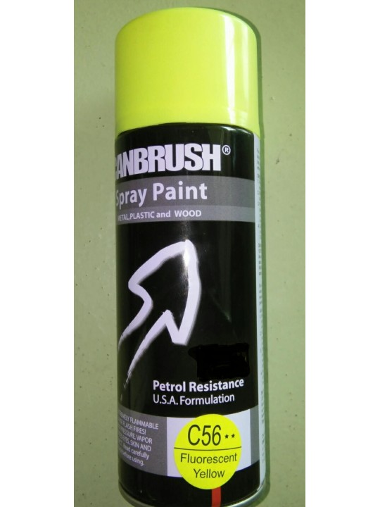 CANBRUSH-Spray Paint C56 Fluorescent Yellow