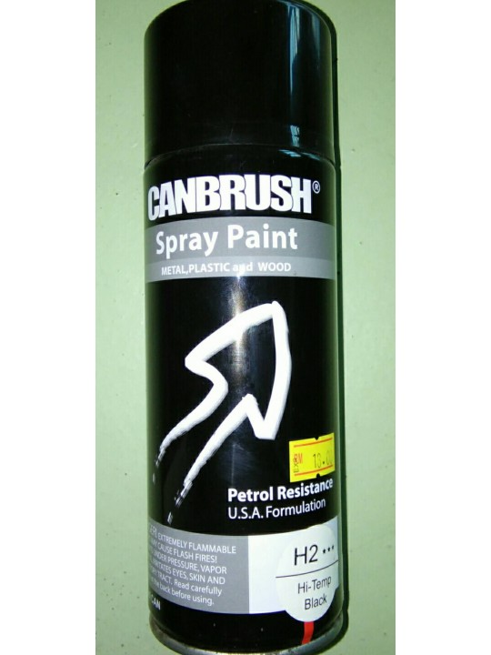 CANBRUSH-Spray Paint H2 HI-Temp Black