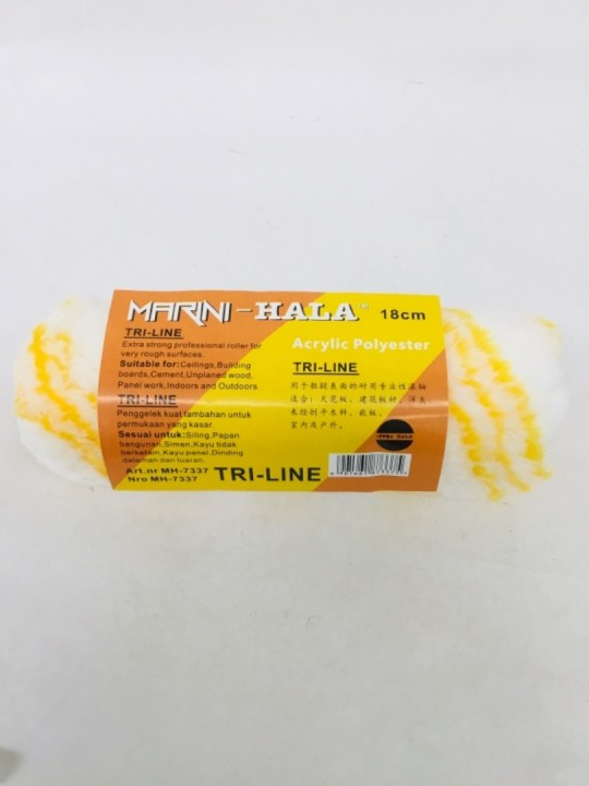 "7"" MARINI Paint Roller Refill MH-7337 W/YLW Line"