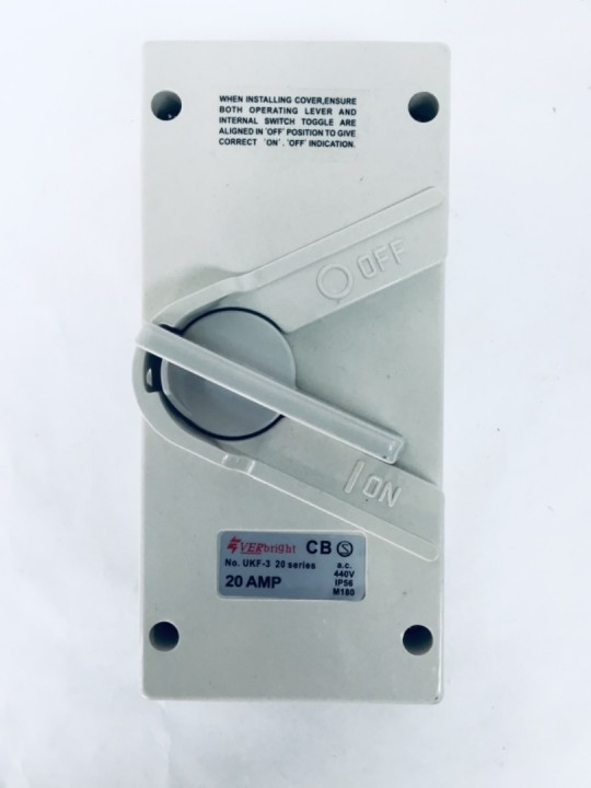Everbright 20A 3P Weatherproof Isolator
