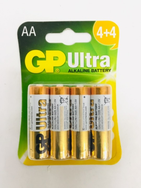 GP Ultra Alkaline Battery 4AA+4AA
