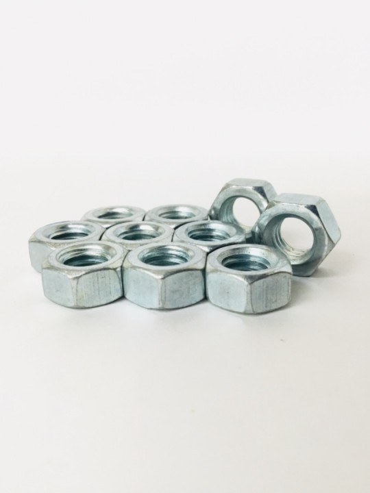 3/8 M/Steel Nut ZP -Pkg *10 Pcs