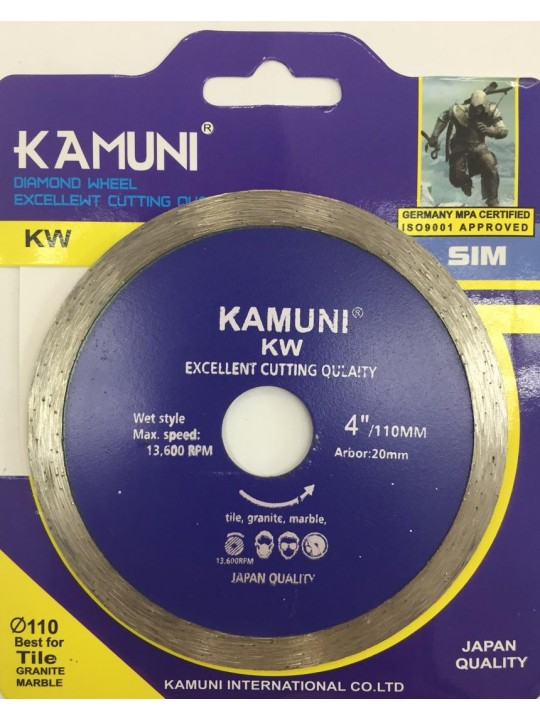 "4"" Kamuni Wetcut Diamond Wheel"