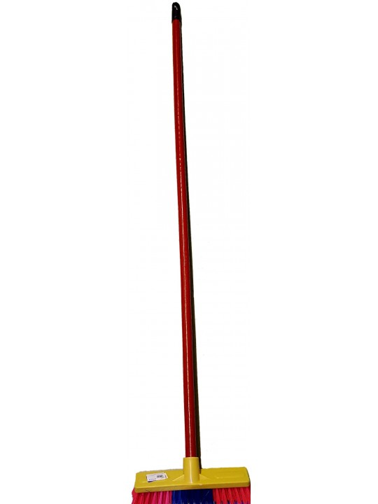 "980 PVC Broom With 4"" Handle Color"