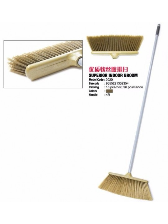 2020 4' RAYACO Iron Handle Nylon Broom