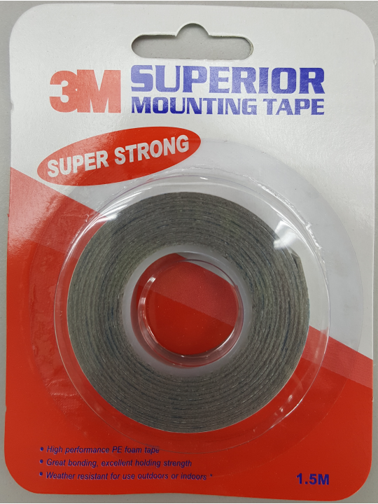12MM X 1.5MTR 3M D/Sided Tape