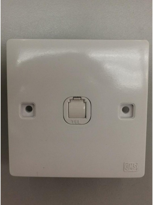 UMS  3S 1Gang Telephone Socket
