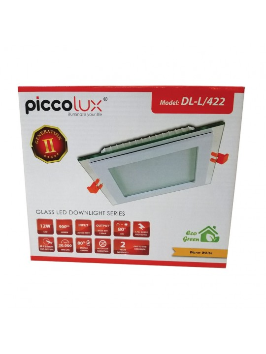 PICCOLUX 422 12W L/Down Light (Square) WW