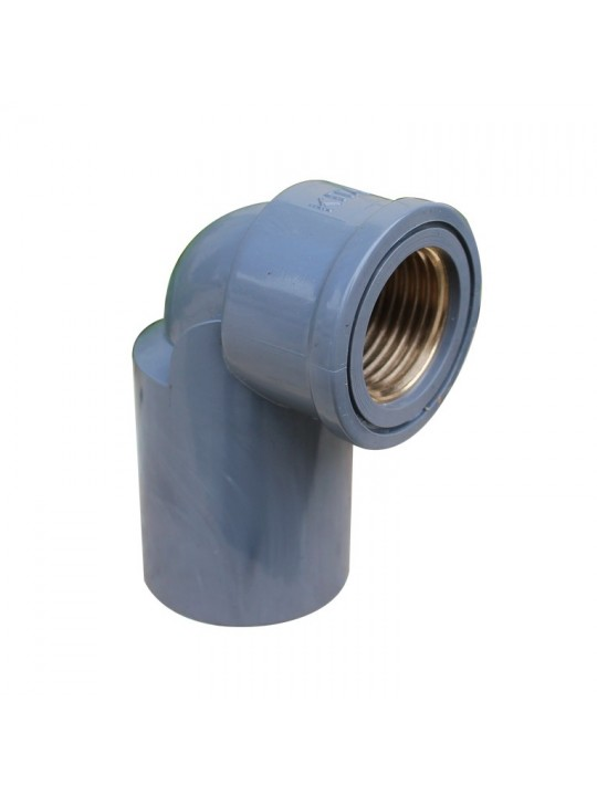 15MM DAYA PVC P/T Elbow-Brass Threaded