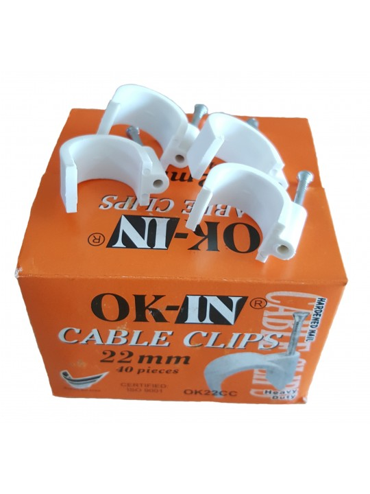 22MM OK-IN Cable Clips (40pcs/Box)