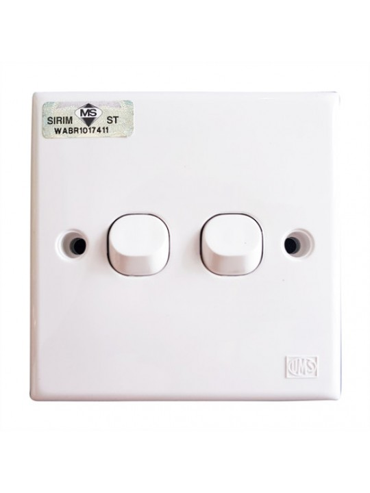 UMS-3S 2 Gang 1Way Switch