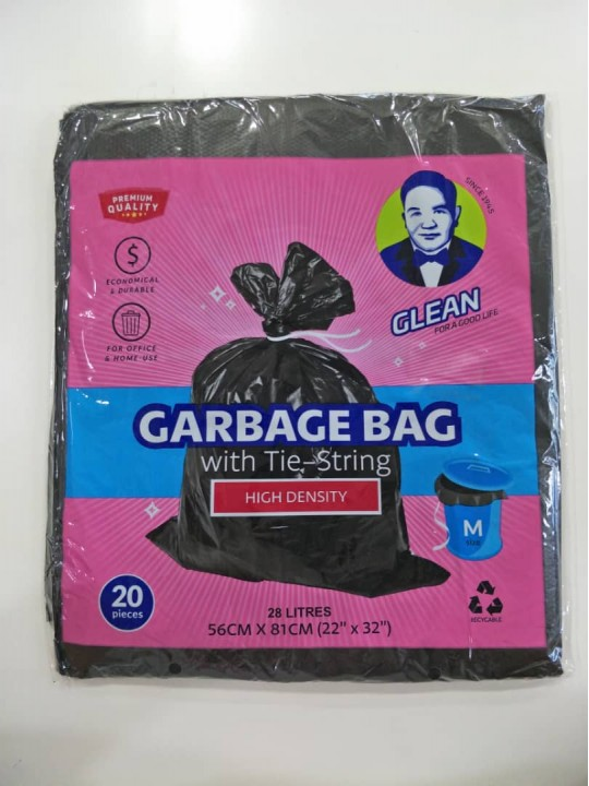 "Garbage Bag 22"" X 32"" Size (M) 20PCS/Pack"
