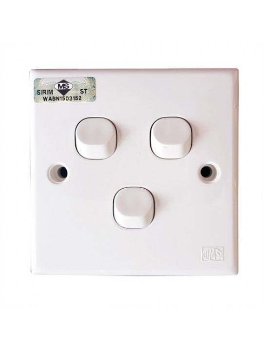 UMS-3S 3 Gang 1Way Switch