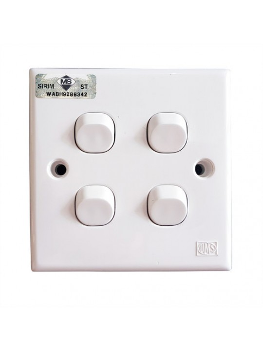 UMS-3S 4 Gang 1Way Switch